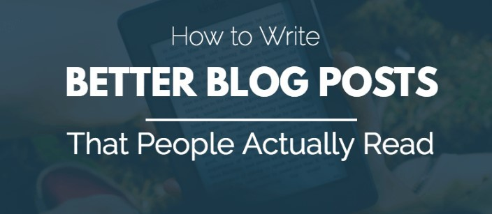 Better Blog Posts